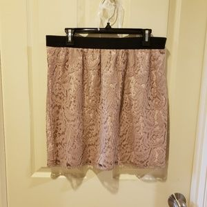 Loft Lace skirt with  Black band Size 10
